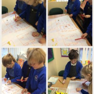 Year 2 working on finding fractions of amounts