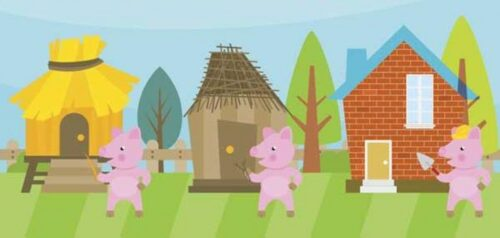 little pigs houses